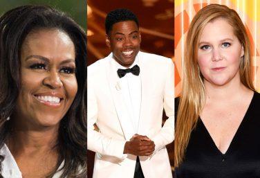 Michelle Obama, Chris Rock e Amy Schumer (Reprodução)