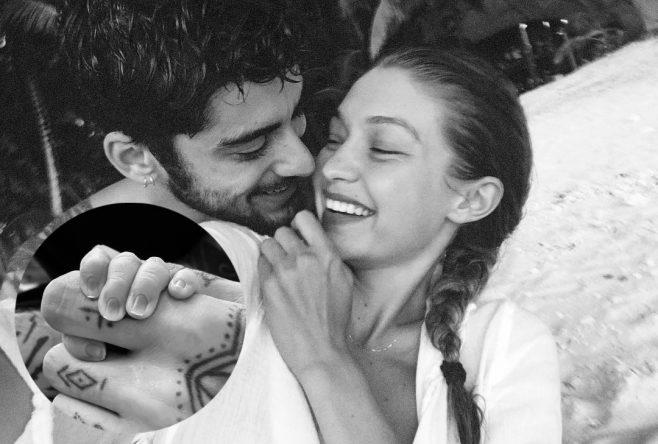 Zayn Malik e Gigi Hadid em foto (Reprodução/Instagram)