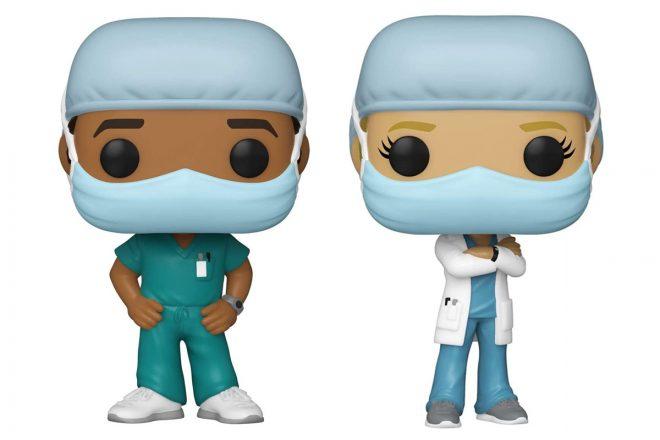 Colecionáveis Funko em homenagem a médicos e enfermeiros. (Divulgação)