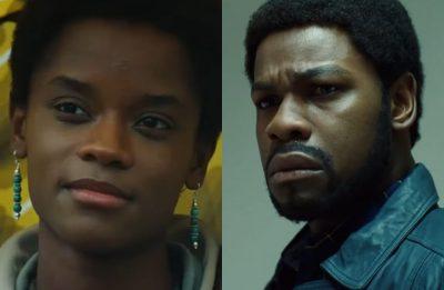 """Letitia Wright e John Boyega na série """"Small Axe"""" (Reprodução)"""