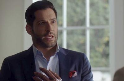 """Tom Ellis durante gravações da 4ª temporada de """"Lucifer"""" (Reprodução)"""