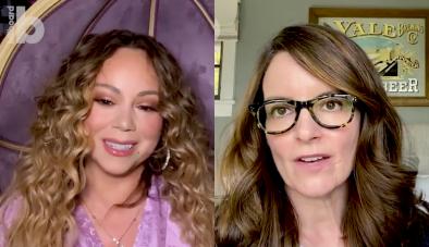 Mariah Carey e Tina Fey conversam em vídeo (Reprodução)