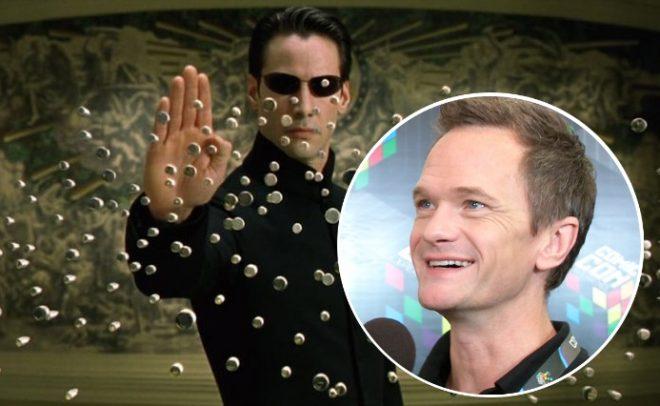"""Imagem de """"Matrix"""" e Neil Patrick Harris em entrevista (Reprodução)"""