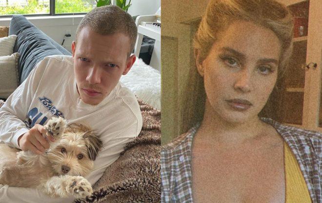 Matt Maeson em foto publicada no Instagram/Lana Del Rey em foto para o Instagram (Reprodução)