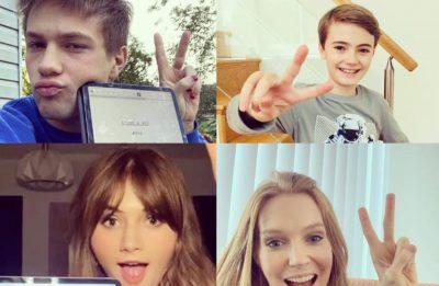 Connor Jessup, Jackson Robert Scott, Emilia Jones e Darby Stanchfield em foto publicada pela Netflix (Reprodução)