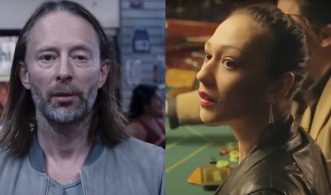 """Thom Yorke em """"Volk"""" (Reprodução)/Dajana Roncione em """"Max Fortuna"""" (Reprodução)"""