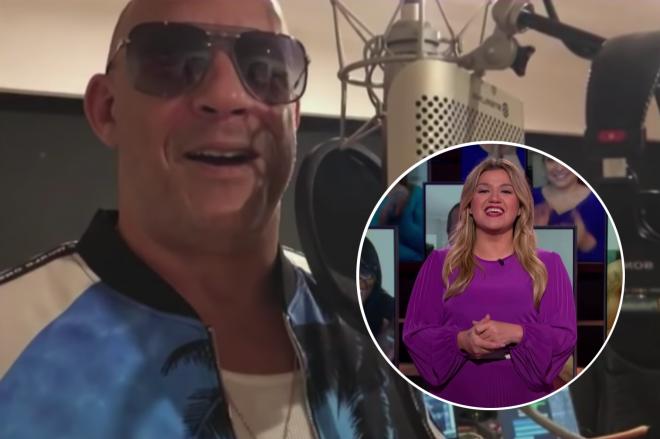 Vin Diesel em vídeo enviado para programa de Kelly Clarkson (Reprodução)