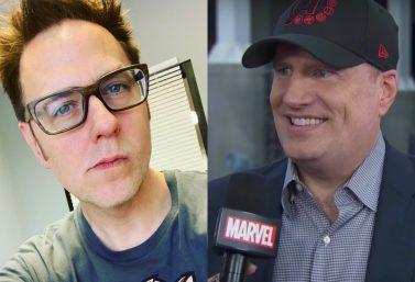 James Gunn via Instagram e Kevin Feige em entrevista ao canal da Marvel no Youtube (Reprodução)