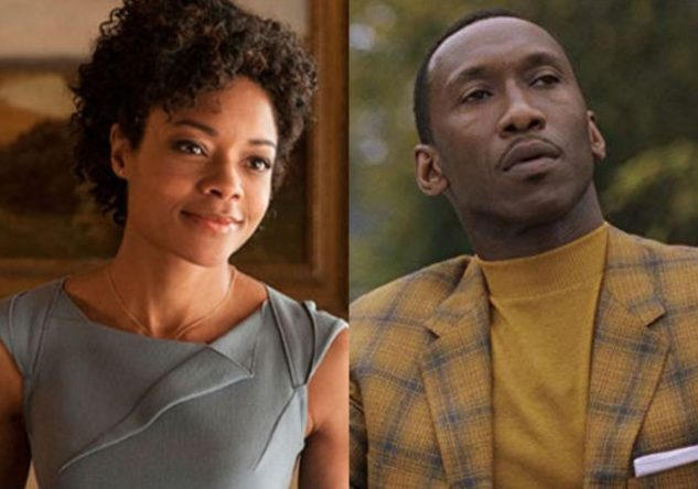 """Naomie Harris em filme do James Bond e Mahershala Ali em """"Green Book"""" (Reprodução)"""