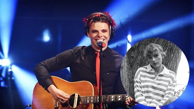 """Taylor Swift em fotos do álbum """"folklore"""" e Yungblud no Live Lounge (Divulgação)"""