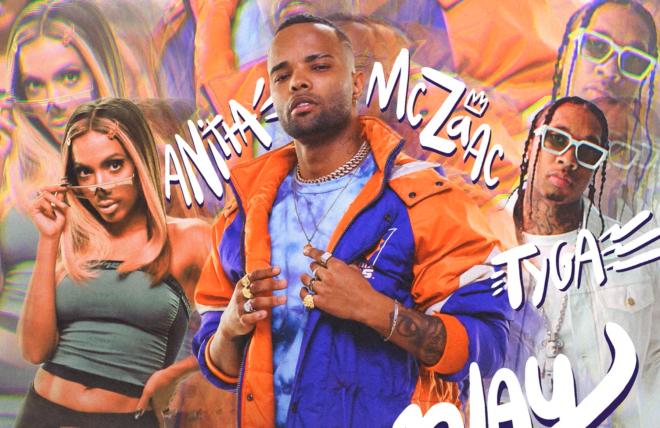 """Anitta, MC Zaac e Tyga em foto promocional de """"Desce Pro Play""""(Divulgação)"""