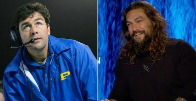 """Kyle Chandler em """"Friday Night Lights"""" e Jason Momoa em entrevista (Reprodução)"""