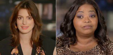 """Anne Hathaway e Octavia Spencer em vídeo sobre """"Convenção das Bruxas"""" (Reprodução)"""