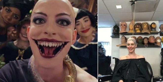 """Cena de """"Convenção das Bruxas"""" e Anne Hathaway em vídeo no Instagram (Reprodução)"""