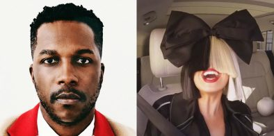 """Leslie Odom Jr. em capa do álbum """"Mr"""" (Divulgação)/ Sia no Carpool Karaoke, do """"The Late Late Show"""" (Reprodução)"""