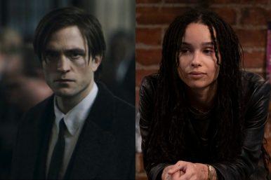 "Robert Pattinson em ""The Batman"" e Zoë Kravitz na série ""High Fidelity"" (Reprodução)"