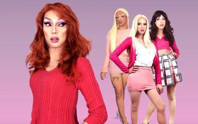 """Charlotte, Kaila, Mira MiuMiu e Monalisa LeBlanc recriam cartaz de """"Meninas Malvadas"""" (Divulgação)"""