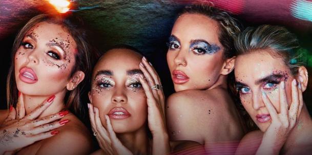 "Perrie Edwards, Jesy Nelson, Jade Thirlwall e Leigh-Anne Pinnock na capa de ""Confetti"" (Divulgação)"