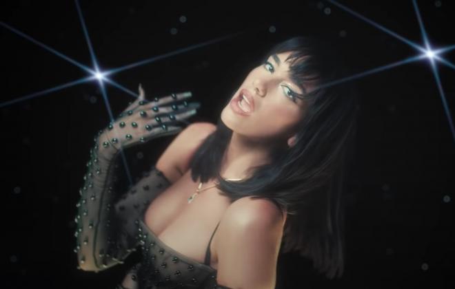 """Cena do clipe do remix de """"Levitating"""" (Reprodução)"""