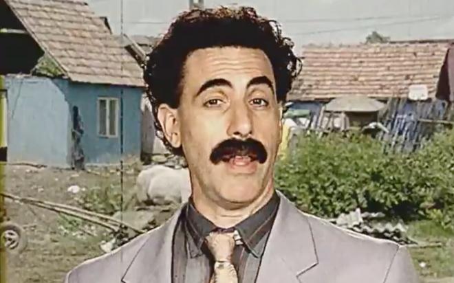 Vídeo de Borat publicado pelo Prime Video (Reprodução)