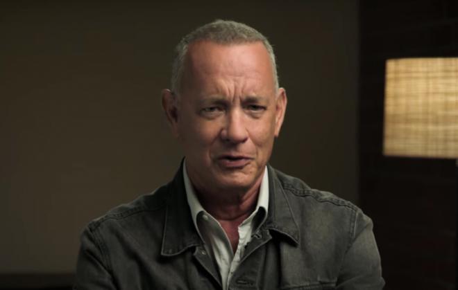 Hanks em vídeo da Universal Pictures (Reprodução)