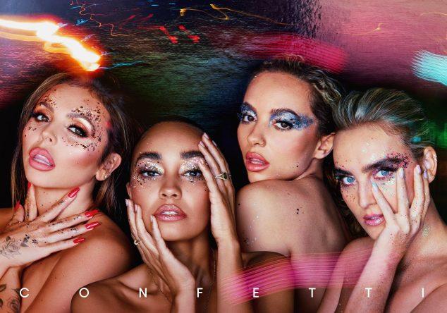 """Jesy, Leigh-Anne, Jade e Perry em capa do álbum """"Confetti"""" (Divulgação)"""