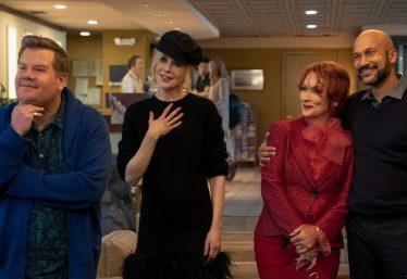 "James Corden, Nicole Kidman, Meryl Streep e Keegan-Michael Key em ""The Prom"" (Divulgação)"