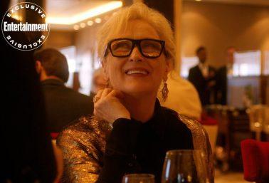 """Meryl Streep em gravação de """"Let Them All Talk"""" (Reprodução)"""