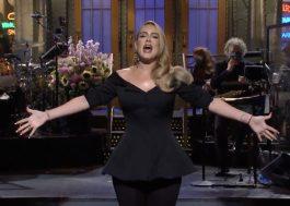 """No SNL, Adele canta, fala sobre rotina fitness e novo álbum: """"Ainda não está pronto"""""""