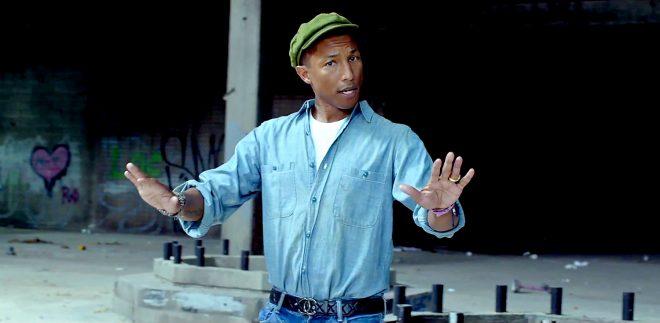 Teaser mostra Pharrell Williams muito emocionado (Reprodução)
