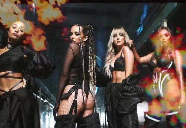 """Little Mix no clipe de """"Sweet Melody"""" (Reprodução)"""
