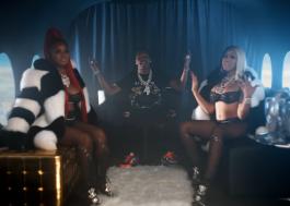 """City Girls e Lil Baby fazem festa em avião no clipe do single """"Flewed Out""""; veja!"""