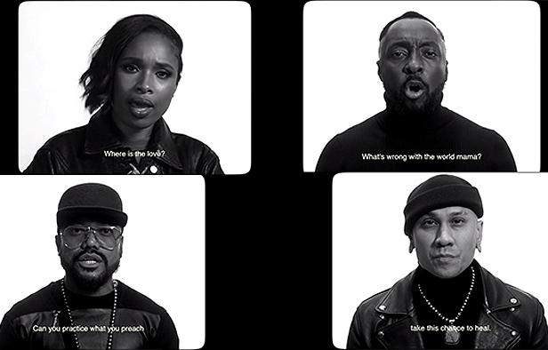 """Jennifer Hudson e Black Eyed Peas no clipe de """"The Love"""" (Reprodução)"""