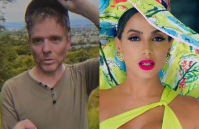 """Stuart Murdoch no clipe de """"The Boy With The Arab Strap (Live)"""" e Anitta em """"Me Gusta"""" (Reprodução)"""