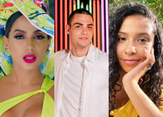 Anitta, Noah Centineo e Madison Reyes em ensaios promocionais (Divulgação)