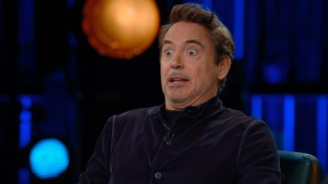 Robert Downey Jr. em teaser de programa com David Letterman (Reprodução)