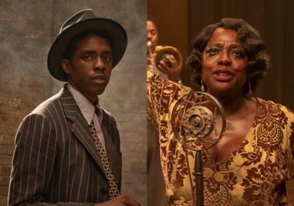 Boseman e Davis em filme <3