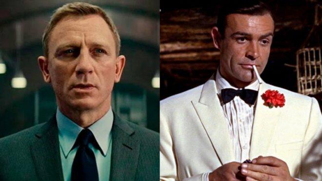 """Daniel Craig em """"007"""" (Divulgação)/Sean Connery em """"007"""" (Divulgação)"""