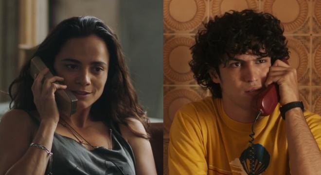 """Alice Braga e Gabriel Leone em trailer de """"Eduardo e Mônica"""" (Reprodução)"""