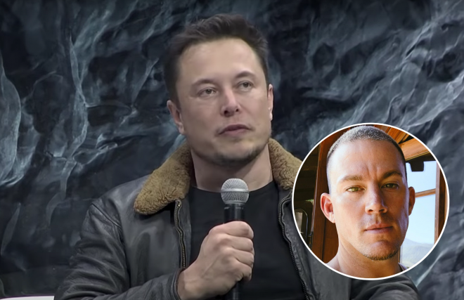 Musk em SXSW (Reprodução)/Selfie de Tatum (Reprodução)