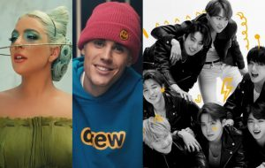 Lady Gaga, Justin Bieber e BTS lideram indicações ao MTV EMA 2020