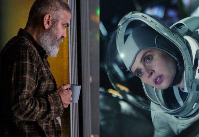"""George Clooney e Felicity Jones em """"O Céu da Meia-Noite"""" (Reprodução)"""