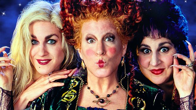 """Sarah Jessica Parker, Bette Midler e Kathy Najimy em cartaz de """"Abracadabra"""" (Divulgação)"""