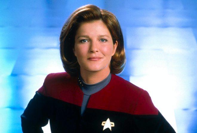 Mulgrew caracterizada de Kathryn Janeway (Divulgação/CBS)