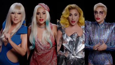 Gaga relembra looks icônicos