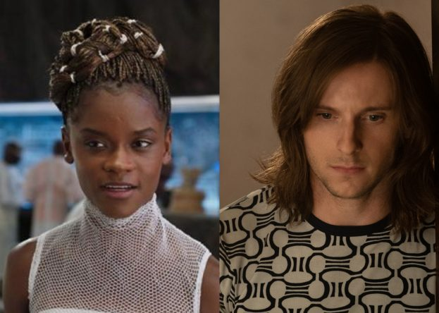 """Letitia Wright em """"Pantera Negra"""" e Jamie Bell em """"Rocketman"""" (Reprodução)"""