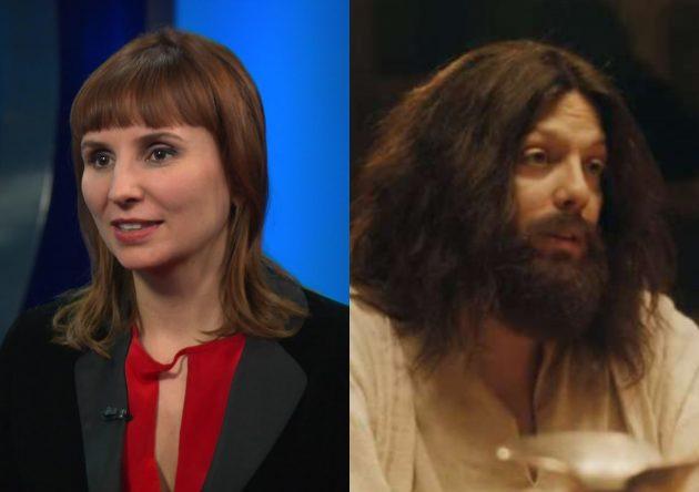 """Petra Costa em entrevista à PBS e Fábio Porchat em """"Se Beber, Não Ceie"""" (Reprodução)"""