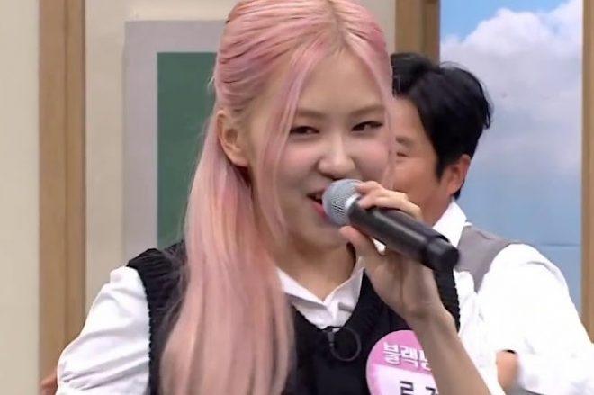 Rosé, do BLACKPINK, em programa de TV (Reprodução)