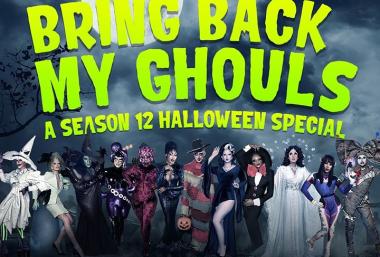 Queens da 12ª temporada de Rupauls Drag Race em cartaz do especial de Halloween (Divulgação)