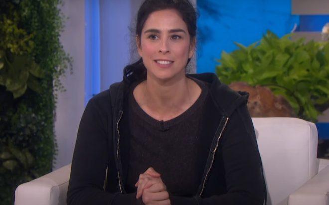 Sarah Silverman no programa da Ellen (Reprodução)